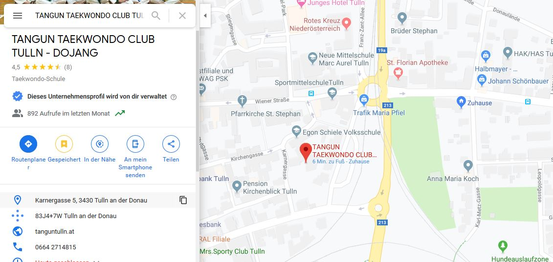https://www.google.com/maps/place/TANGUN+TAEKWONDO+CLUB+TULLN+-+DOJANG/@48.3297963,16.0585324,17z/data=!4m5!3m4!1s0x0:0xf061569a1f8be73!8m2!3d48.3307115!4d16.0573182